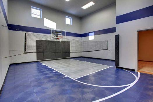 Bring big play inside sport courts creek hill custom homes for Custom indoor basketball court