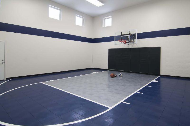 Indoor recreation sport court creek hill custom homes for Home sport court
