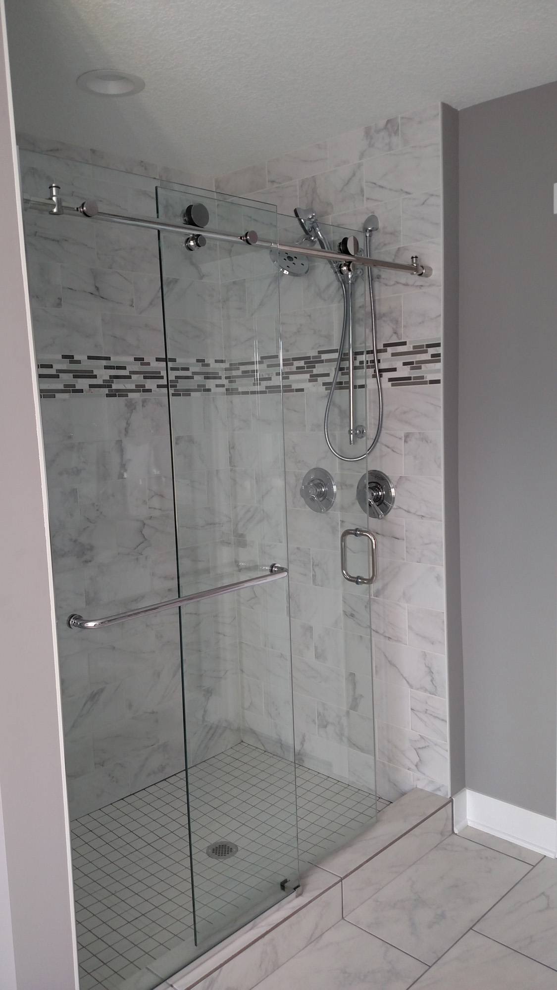 Glass Barn Doors For The Shower Creek Hill Custom Homes